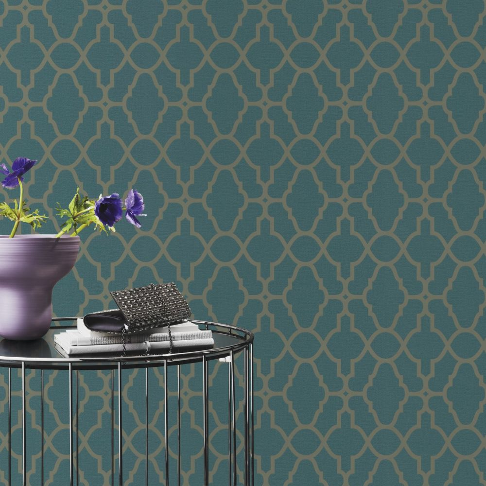 Albany Casablanca Teal Wallpaper - Product code: 309324