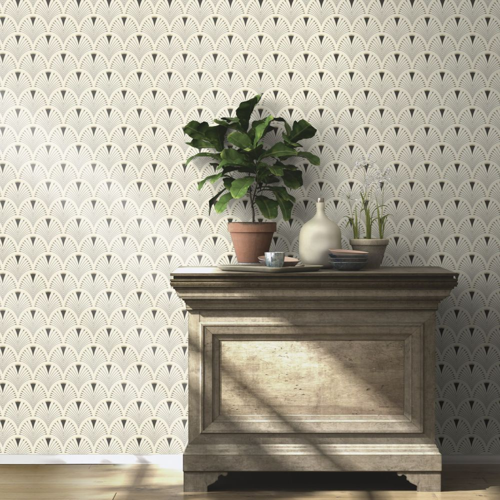 Albany Deco Arch Linen Wallpaper - Product code: 433210
