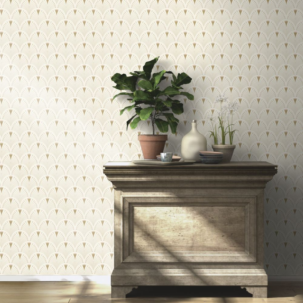 Albany Deco Arch Ivory Wallpaper - Product code: 433227