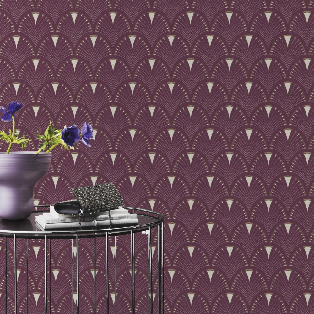 Albany Deco Arch Mauve Wallpaper - Product code: 433241