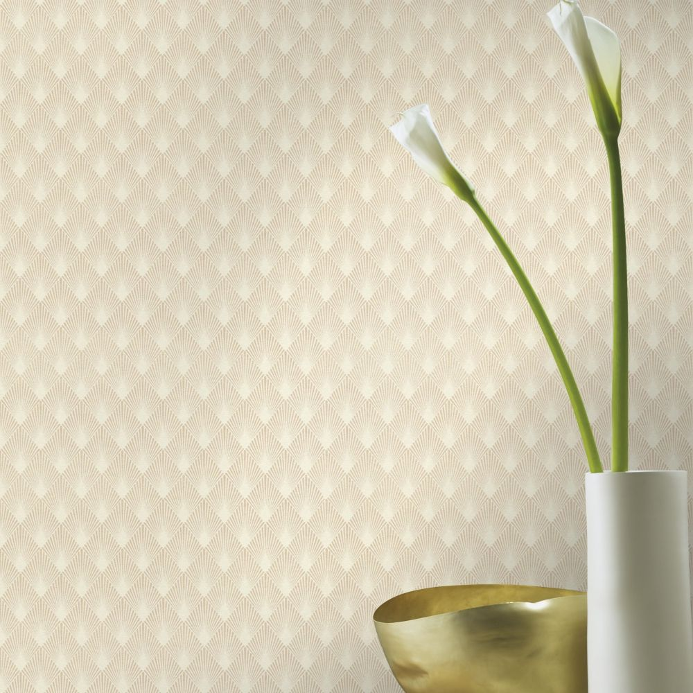 Deco Sun Wallpaper - Linen - by Albany