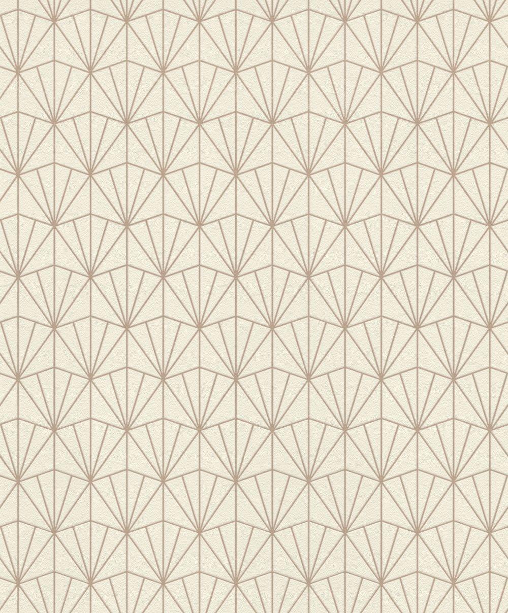 Albany Deco Diamond Linen Wallpaper - Product code: 434040