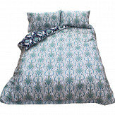 The Chateau by Angel Strawbridge The Chateau Heron Reversible Duvet Set Grey/ Navy Duvet Cover - Product code: DEC/NGR/KINBS