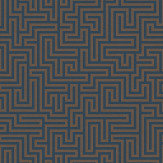 Albany Labyrinth Labyrinth Navy Wallpaper