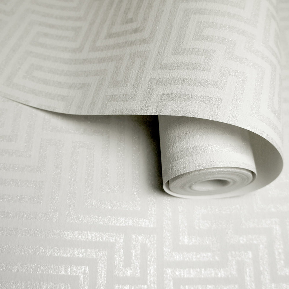 Labyrinth Wallpaper - Labyrinth White - by Albany