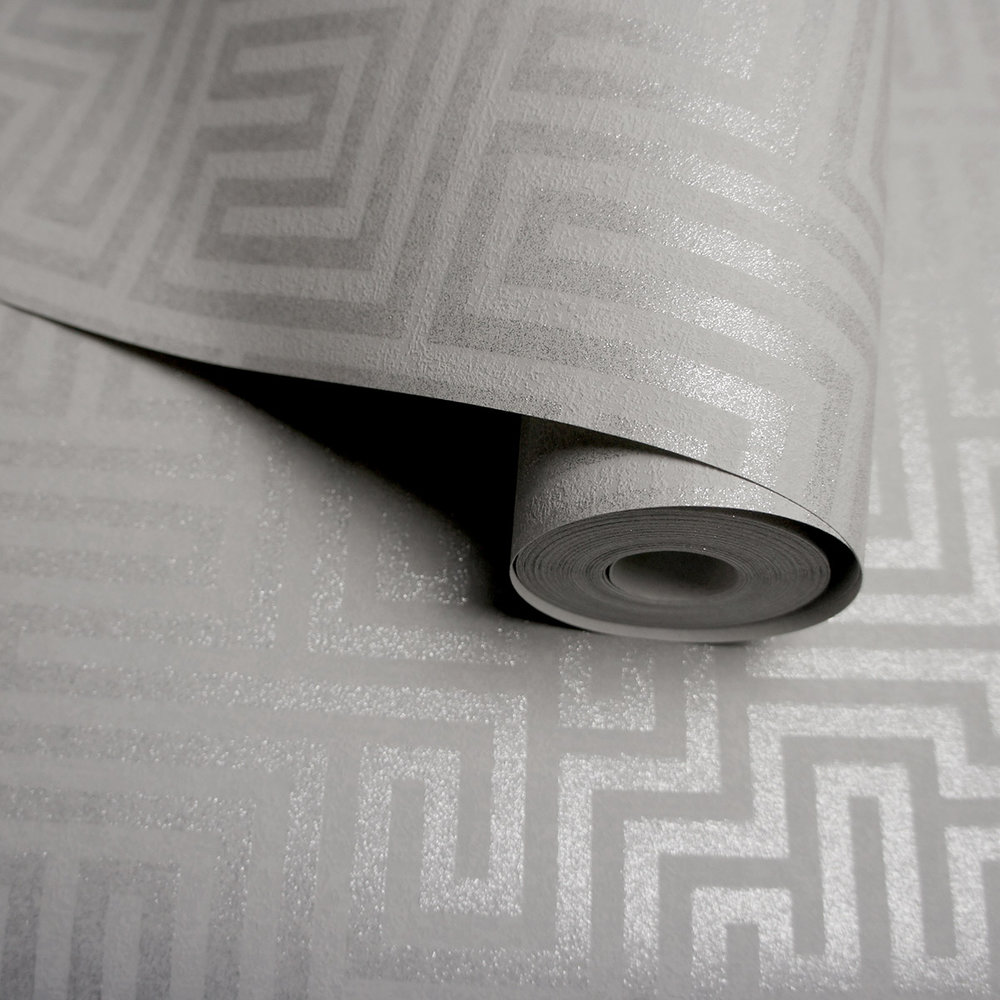 Labyrinth Wallpaper - Labyrinth Grey - by Albany