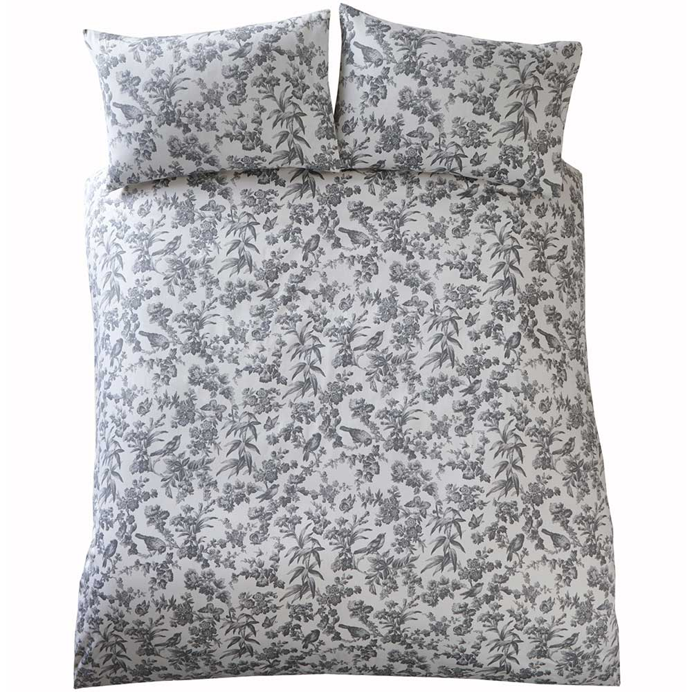 Amelia Duvet Set Duvet Cover - Charcoal - by Oasis