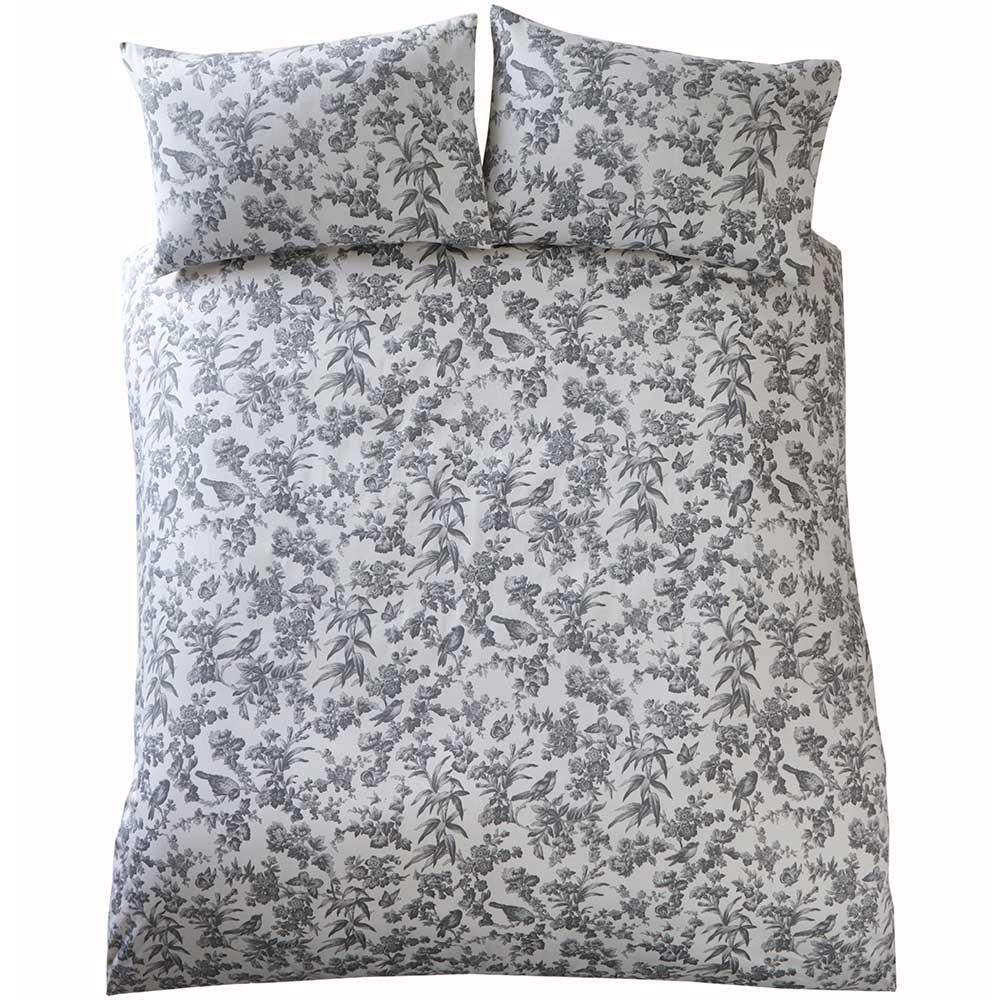 Oasis Amelia Duvet Set Charcoal Duvet Cover - Product code: M0017/01/KS