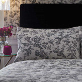 Oasis Amelia Housewife Pillowcase Pair Charcoal - Product code: M0245/01