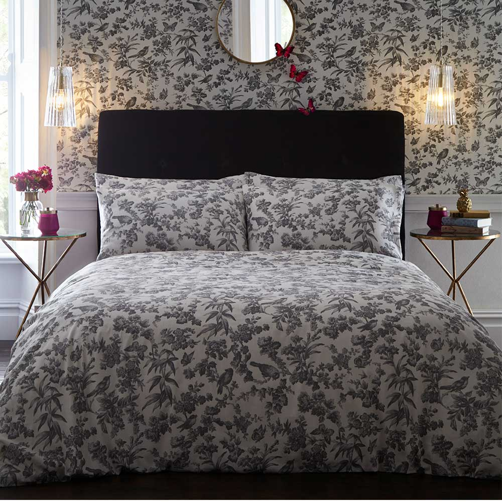 Amelia Housewife Pillowcase Pair - Charcoal - by Oasis