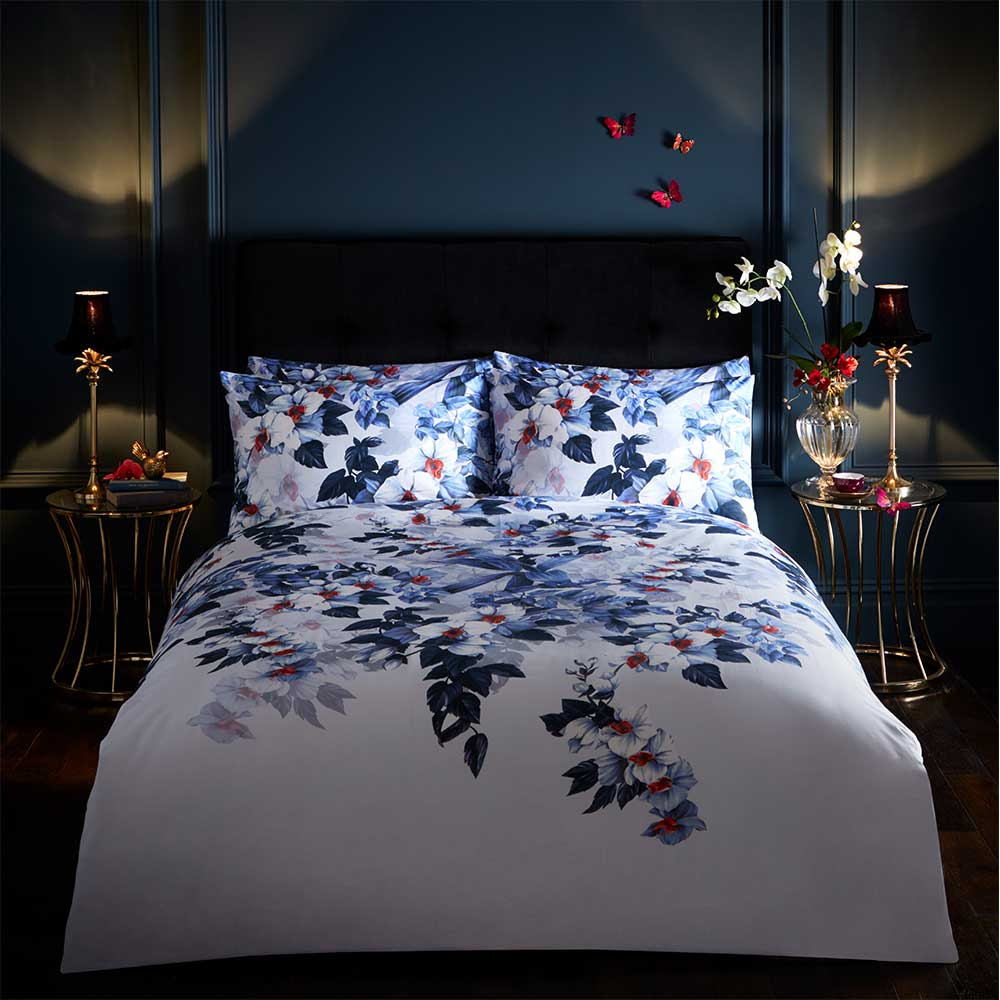 Exotic Duvet Set Duvet Cover - Azure - by Oasis