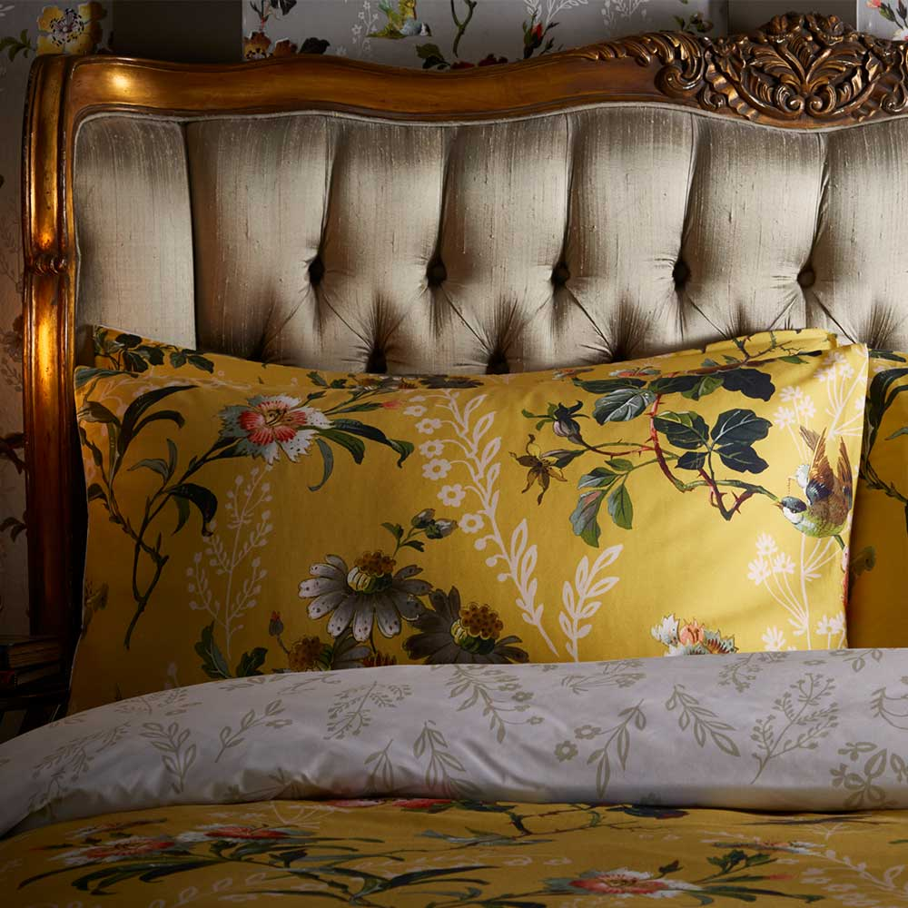 Oasis Leighton Duvet Set Ochre Duvet Cover - Product code: M0011/02/DB