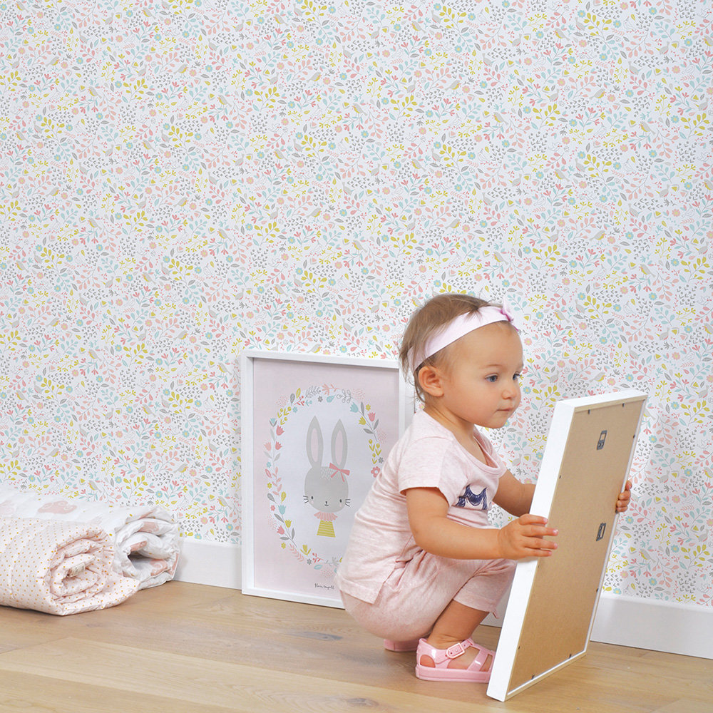 Lilipinso Sweet Flowers Pink Wallpaper - Product code: H0405