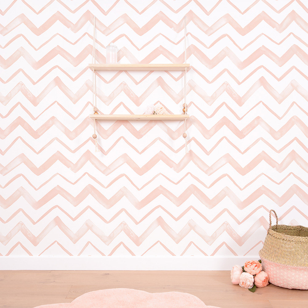 Lilipinso Chevron Coral Wallpaper - Product code: H0410