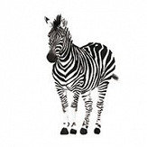 Lilipinso Zebra Black / White Wallpaper - Product code: H0463