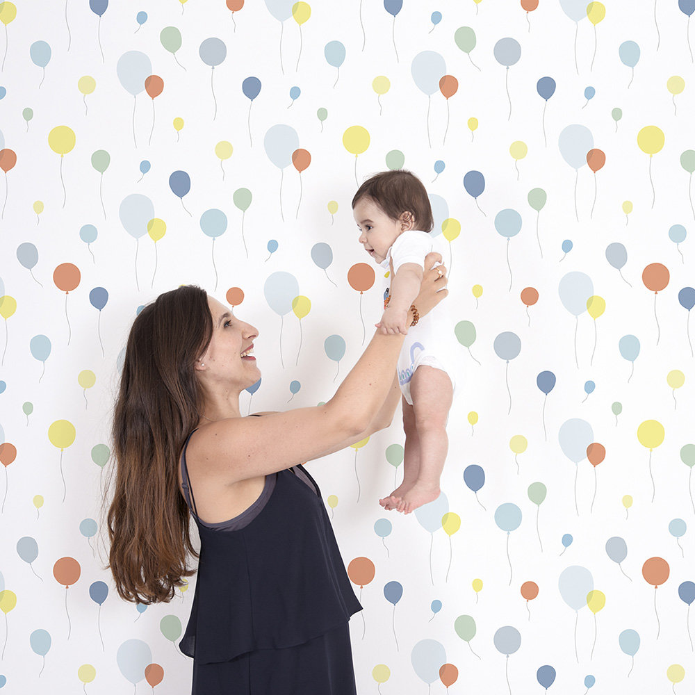 Lilipinso Multi Ballons Multi-coloured Wallpaper - Product code: H0528