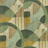Zoffany Abstract 1928 Antique Olivine Wallpaper - Product code: 312887