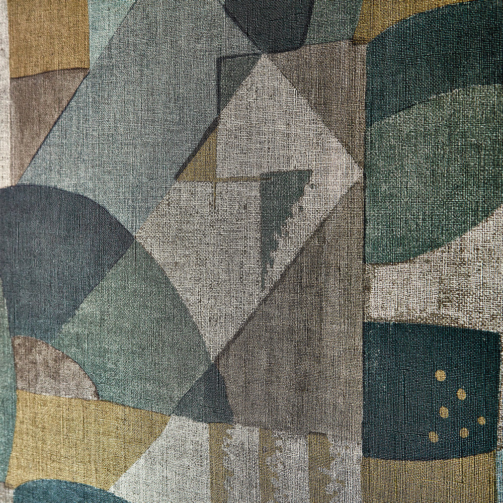 Abstract 1928 Wallpaper - Antique Olivine - by Zoffany