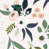 Lilipinso Flowers on Light Multi-coloured Wallpaper - Product code: H0539