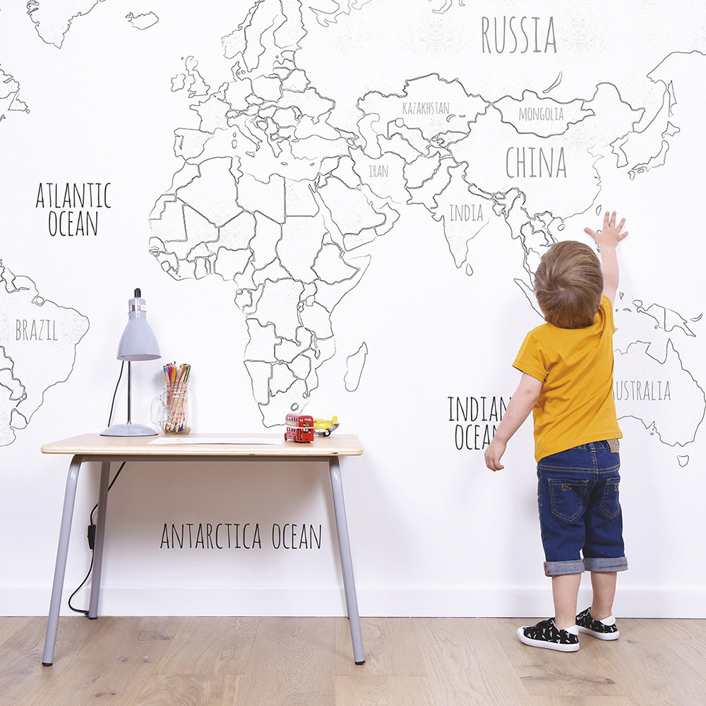 Lilipinso Globe Mural Black / White - Product code: H0366