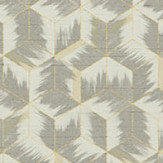 Zoffany Tumbling Blocks Faded Anthracite Wallpaper - Product code: 312893