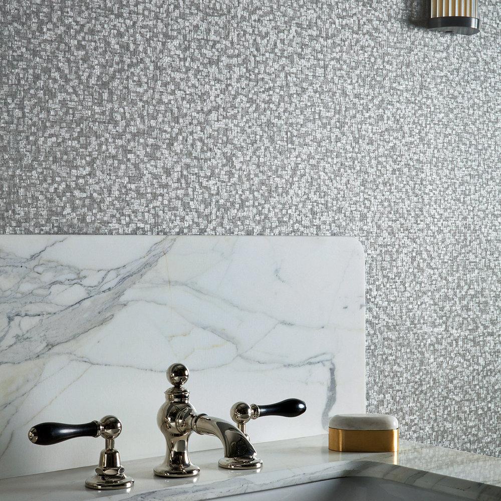 Zoffany Mosaic Zinc Wallpaper - Product code: 312923