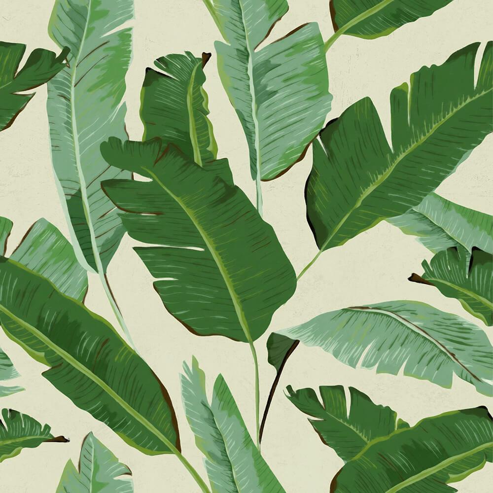 Mind the Gap Banana Leaves Green Mural - Product code: WP20111