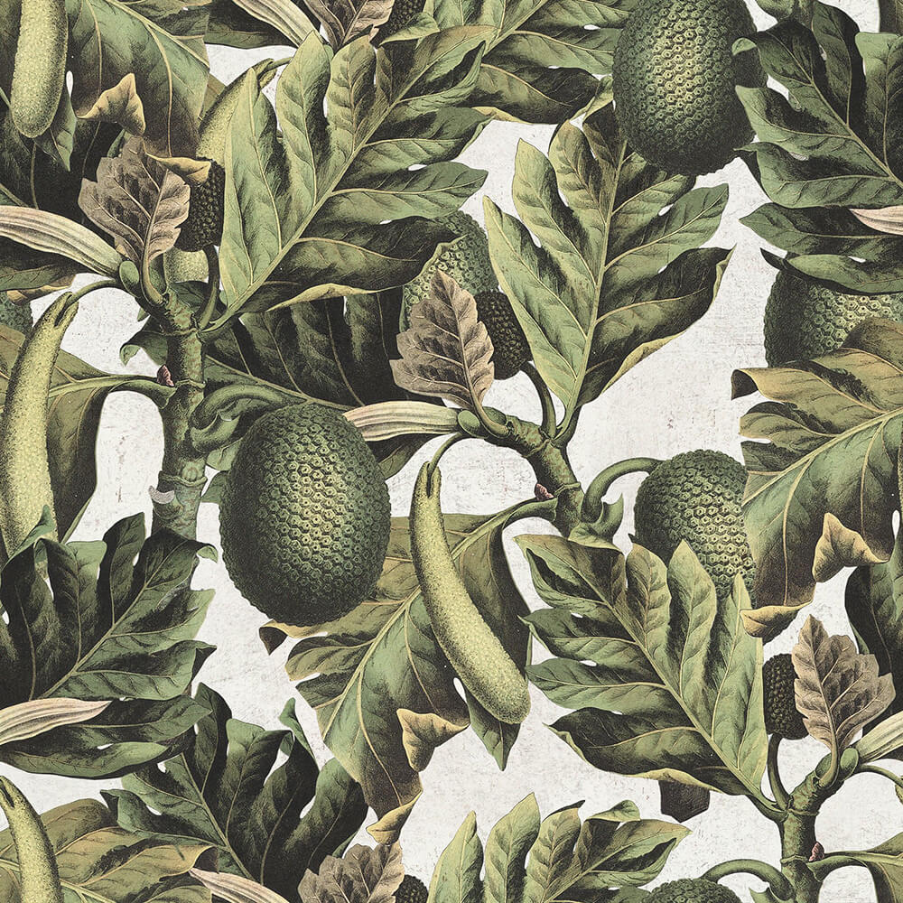 Exotic Fruit I Mural - Green - by Mind the Gap
