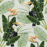 Mind the Gap Birds of Paradise Green Mural - Product code: WP20092