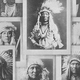 Mind the Gap Indian Chiefs Black / White Mural - Product code: WP20072