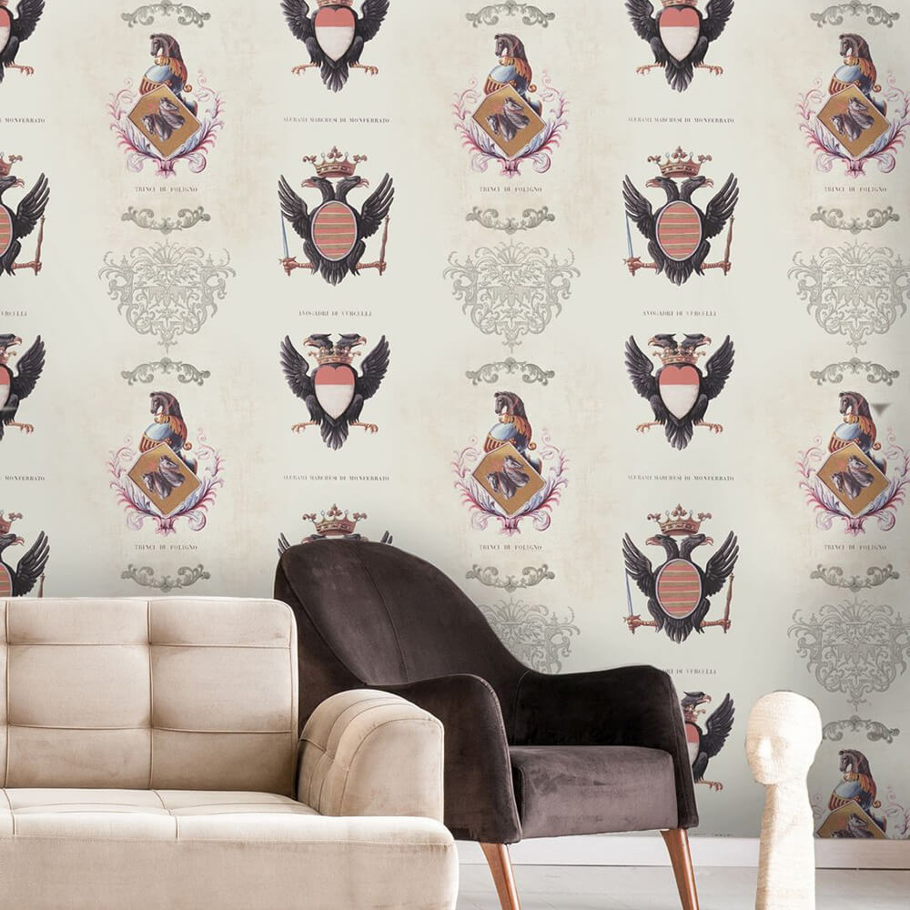 Mind the Gap Coats of Arms Black / White Mural - Product code: WP20077