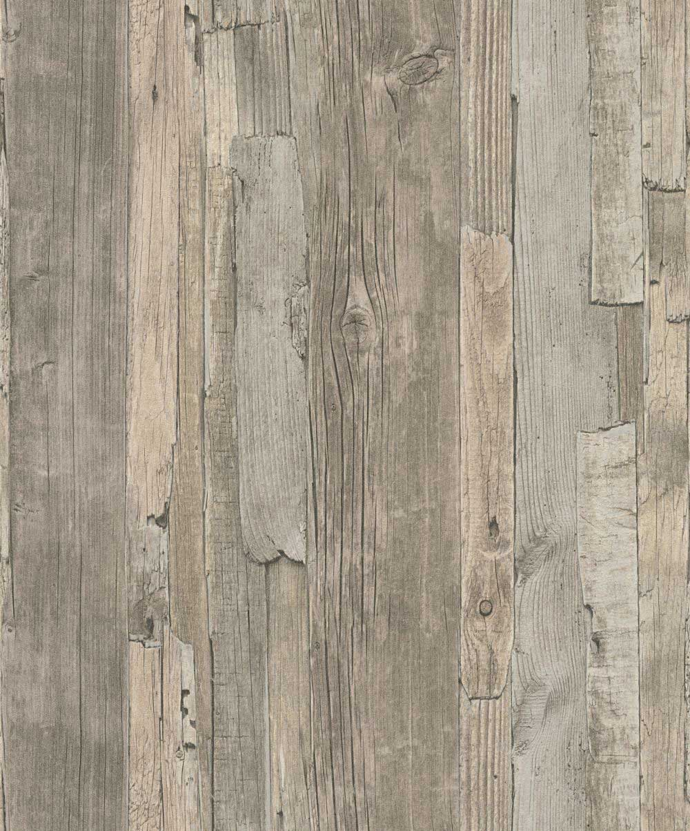 Albany Distressed Wood Grey Wallpaper - Product code: 95405-3