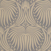 Farrow & Ball Lotus Grey / Gilver Wallpaper - Product code: BP 2067