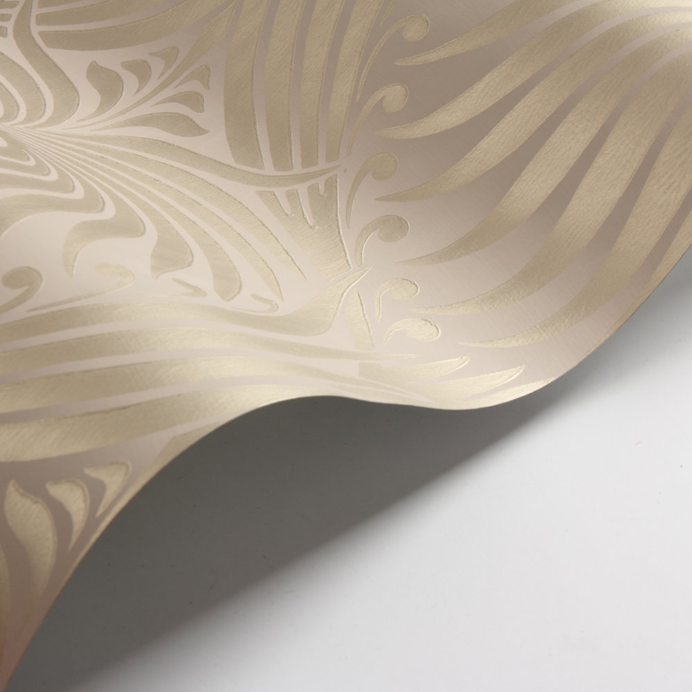 Lotus Wallpaper - Taupe / Gilver - by Farrow & Ball
