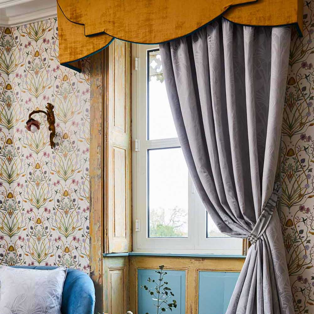 The Chateau by Angel Strawbridge The Chateau Deco Heron Curtains Grey Ready Made Curtains - Product code: DEC/GRE/15054TA