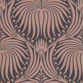 Farrow & Ball Lotus Black / Copper Wallpaper - Product code: BP 2068