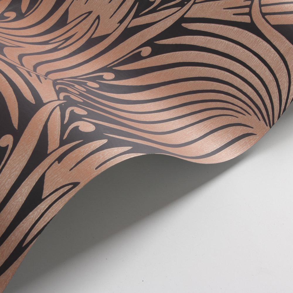 Farrow & Ball Lotus Black / Copper Wallpaper - Product code: BP 2068