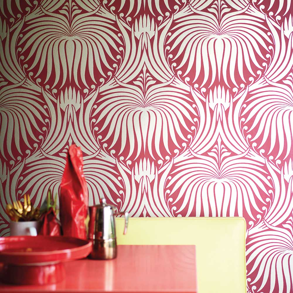 Farrow & Ball Lotus Red / Gilver Wallpaper - Product code: BP 2069
