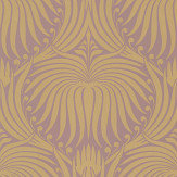 Farrow & Ball Lotus Pink / Gold Wallpaper - Product code: BP 2070