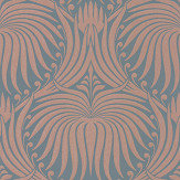 Farrow & Ball Lotus Blue / Copper Wallpaper - Product code: BP 2071