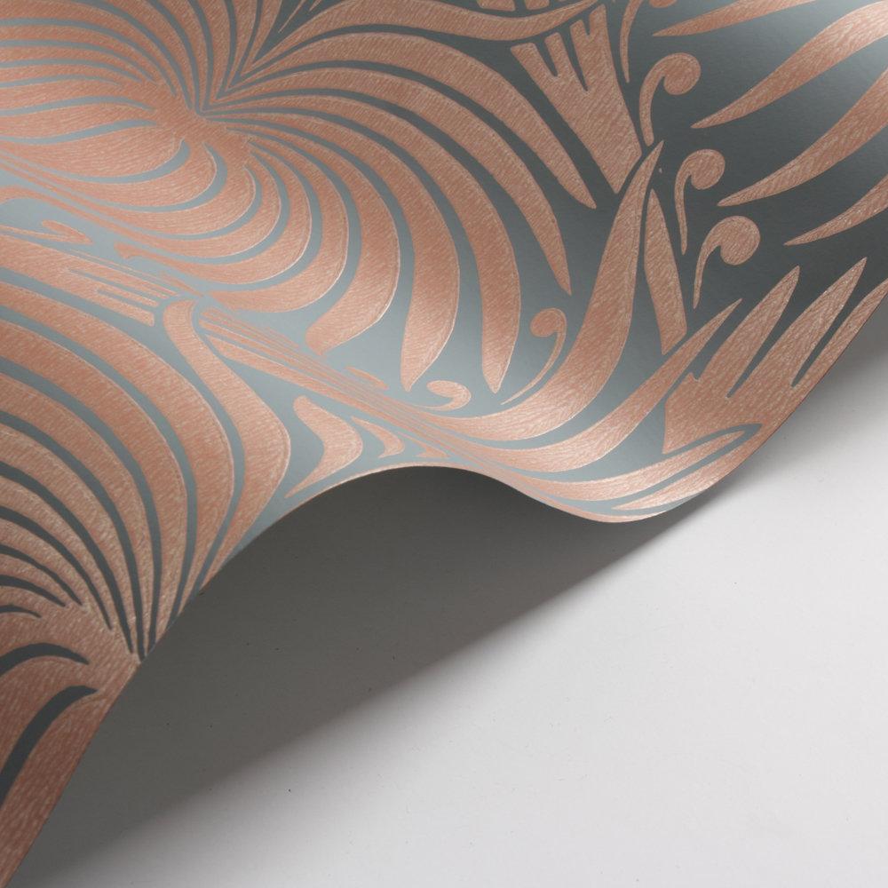 Farrow & Ball Lotus Blue / Copper Wallpaper - Product code: BP 2071