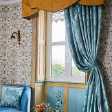 The Chateau by Angel Strawbridge The Chateau Deco Heron Curtains Teal Ready Made Curtains - Product code: DEC/TEA/10054TA
