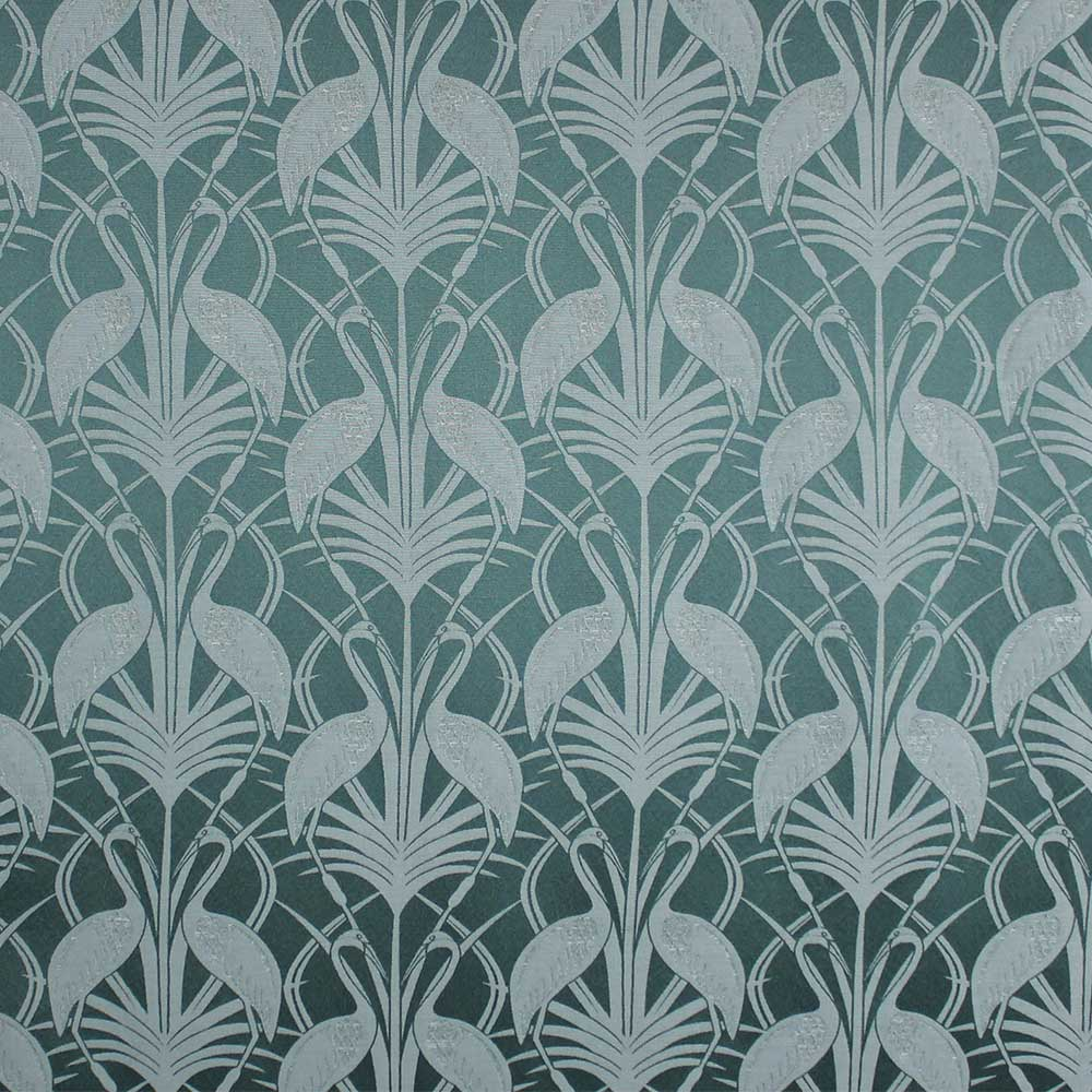 The Chateau Deco Heron Curtains Ready Made Curtains - Teal - by The Chateau by Angel Strawbridge