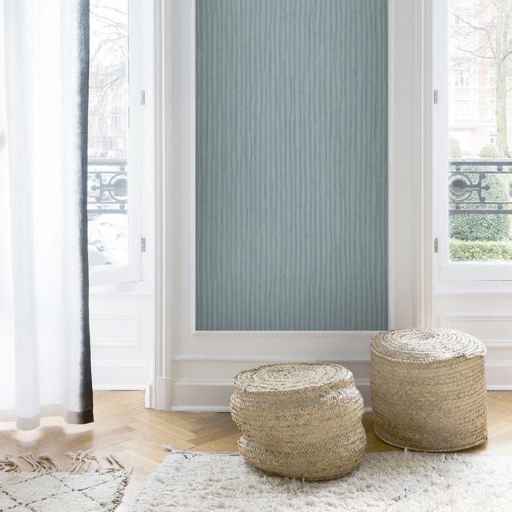 SK Filson Stripes Teal Blue Wallpaper - Product code: LV1105