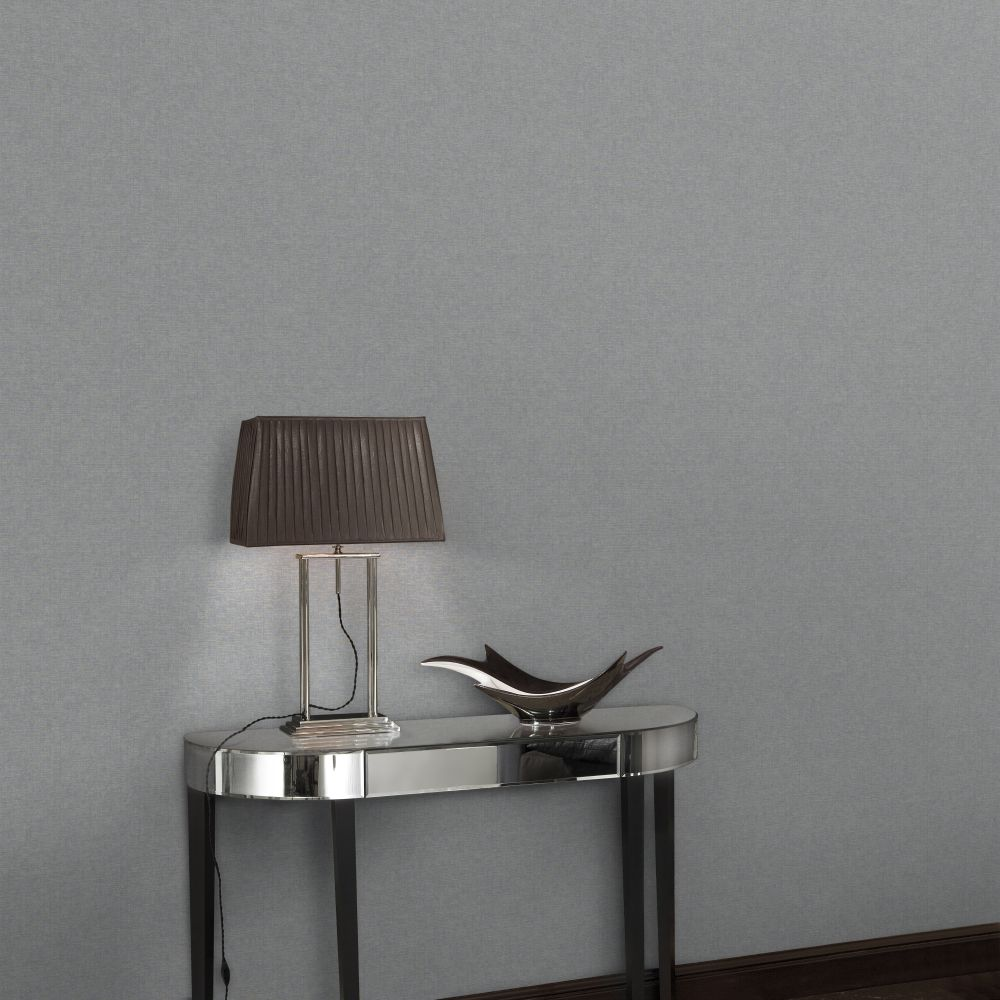 Brick Wallpaper - Silver - by SK Filson