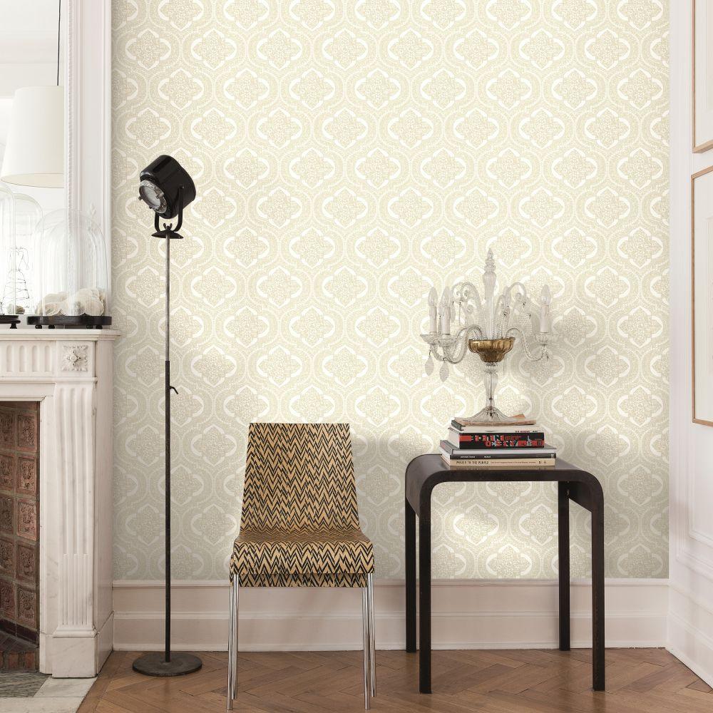 SK Filson Damask Light Gold Wallpaper - Product code: LV3202