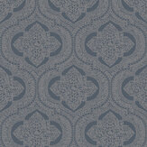 SK Filson Damask Dark Blue Wallpaper - Product code: LV3205
