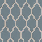 Farrow & Ball Tessella Blue / Silver Wallpaper - Product code: BP 3614