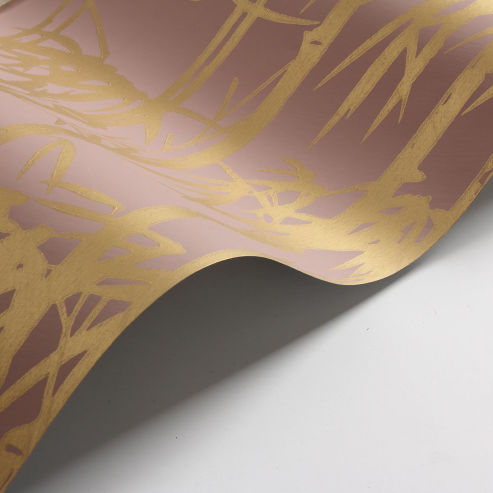Farrow & Ball The Bamboo Papers Gold  / Pink Wallpaper - Product code: BP 2161