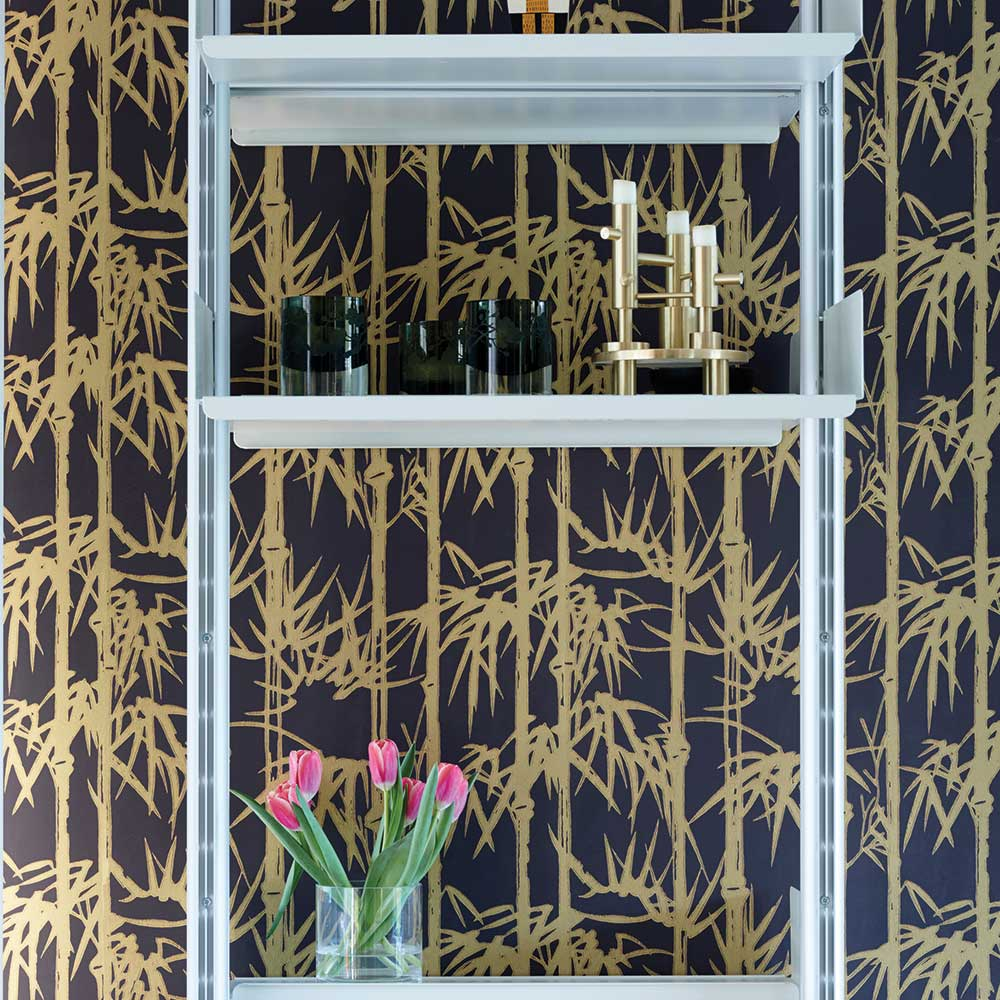 Farrow & Ball The Bamboo Papers Black / Gold Wallpaper - Product code: BP 2162